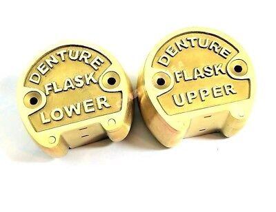 Original Brass Dental Denture Upper Lower Flask New Lab Professional-aquality