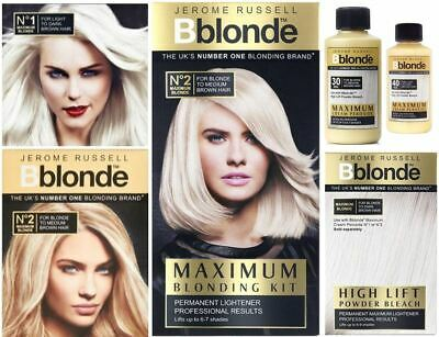 Jerome Russell Bblonde Maximum Blonding - Highlighting - Permanent Bleaching.