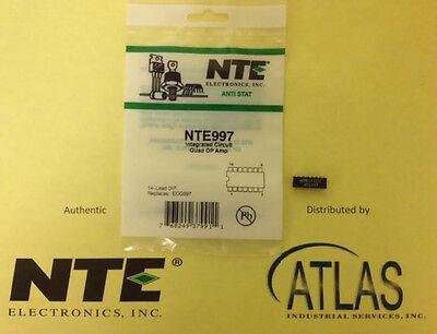 Nte Nte997 Integrated Circuit Quad Operational Amplifier 14 Lead Dip