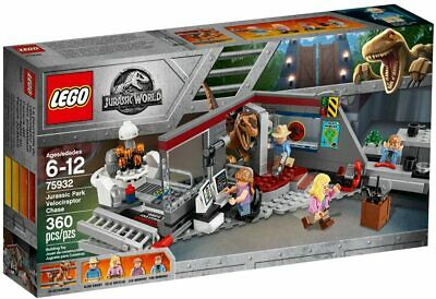 NEW Lego 75932 Jurassic World Jurassic Park Velociraptor Chase 360pc Toy Set