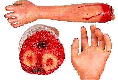 Körperteil abgerissener Unterarm Arm Zombie Blut Halloween Massaker Tatort