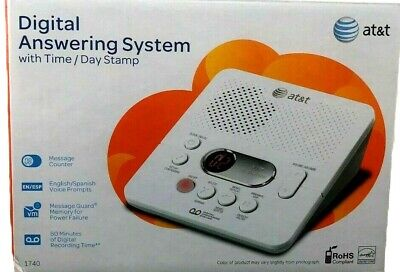 AT&T Digital Answering Machine System 60 Minutes Remote Access Phone 1740 NEW