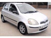Cheap Insurance Toyota Yaris 1 litre Long Mot 5 Doors Full Service 50mpg (MICRA CORSA FIESTA AYGO)