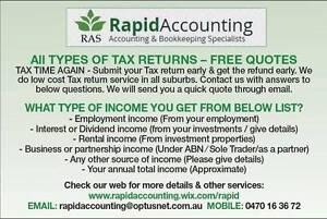 Tax returns - Quick tax estimates through Email (Free) Cranbourne Casey Area Preview