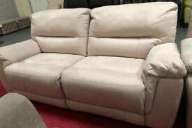 DFS Esquire 3 seater suede manual recliner sofa