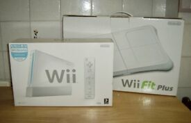 Boxed Wii Sports Console, Wii Fit Board and Wii Fit Plus