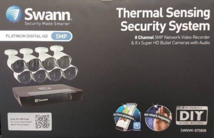 Swann NVR-8580 CCTV System Video 8 x NHD-865MSB 5MP Cameras 2TB