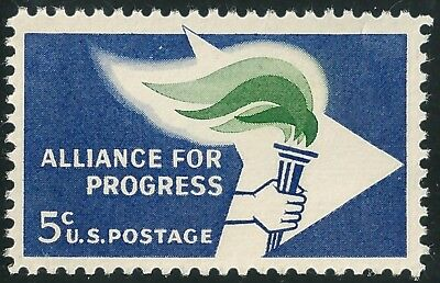 Us Scott   1234   Alliance For Progress   5 Cent Single  1963   F Vf Mnh