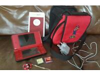 Nintendo DSi XL Mario Special Edition with Red Carry-all Bag
