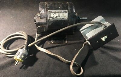Vintage Emerson 13 Hp Motor Antique Cast Iron 1725rpm 115v Single Phase