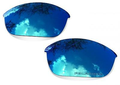 SURE Ersatzgläser für Oakley Flak Jacket (Polarisierte Ice Blue Linsen)