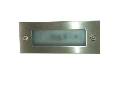 LED Stainless Steel Brick Light Outdoor Garden Square Recessed Step Wall Lights Stainless Steel Brick Light