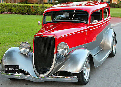 1934 Ford TUDOR HOTROD - ALL STEEL -TEXAS CAR ALL STEEL OLDER RESTORATION - 1934 Ford Tudor Hotrod Sedan