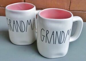 Brand new Rae Dunn super cute  pink interior Grandma mug