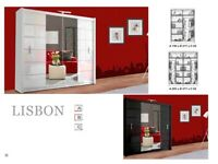 🍁🍁CLEARANCE STOCK MUST GO🍁🍁BRAND NEW LISBON SLIDING MIRROR WARDROBE🍁🍁AVAILABLE NOW🍁🍁