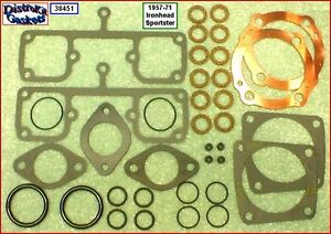 Top-End-Rebuild-Gasket-Kit-57-71-Ironhead-Sportster-900-copper-head-gaskets