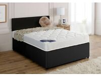 🔴🔵 CASH ON DELIVERY🔴🔵 DO NOT MISS DOUBLE PLAIN FABRIC BED W MATTRESSESS ONLY 145GBP🔴