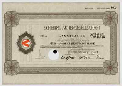 SCHERING Dax Wert Berlin Bergkamen 1985 Merck Bayer 500 DM Weimar Pharma Berlex