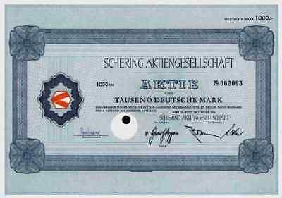 SCHERING Bayer1966 Berlin Bergkamen Weimar Merck 1000 DM Kokswerke Pharma Chemie
