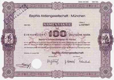 BayWa AG München 1984 Straubing Salzburg Agrarhandel Raiffeisen 100 DM Litera J