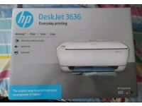 NEW HP DeskJet 3636 inkjet wireless multifunctional all in one printer