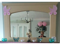 """Wooden """"Stone Look"""" Fireplace Mantle Mirror"""