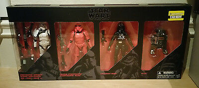 "Hasbro Star Wars VII The Force Awakens 6"" Black Series Imperial Forces 4 pk EXCL"