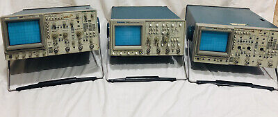 Lot Of 3 Two 2446 And One 2445 150mhz 4 Channel Oscilloscope Tektronix
