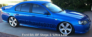 Stg 3 Ultra Lows Rear BA BF Sedan Ford Falcon King Lowered Springs Low & XR6 8