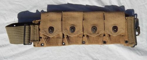 WW 1 US Army USMC Solders Khaki Web Cartridge Belt Dated 1918