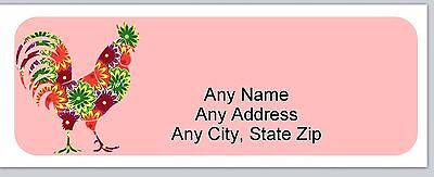 Personalized Address Labels Abstract Chicken Hen Buy 3 Get 1 Free Ac 857