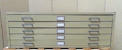 47 5 Drawer Metal Map Cabinet 47 Wide X 36 Deep X 16 Tall Sr621
