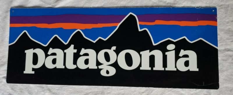 Authentic Double Sided Classic Original Vintage Metal Patagonia Dealer Sign