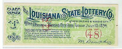The Louisiana State Lottery Co  1894