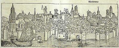 MAGDEBURG - Gesamtansicht - Schedel - Holzschnitt 1493