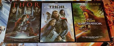 Thor Trilogy 1, 2, 3 DVD 3-Movies Brand New Marvel Bundle