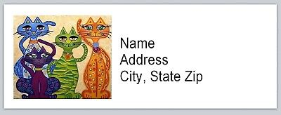 Personalized Address Labels Abstract Cats Buy 3 Get 1 Free Bx 523