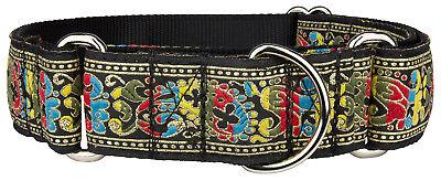 Country Brook Petz™ Colorful Paisley Woven Ribbon Martingale Dog Collar Woven Ribbon Collar