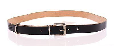 D&g Logo Gürtel (NWT DOLCE & GABBANA D&G Black Leather Logo Belt Cintura s.90 cm / 36 inch)