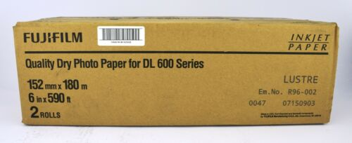 Fujifilm Lustre Quality Dry Photo Paper for DL600 Series 152mm x 180m 2 Rolls