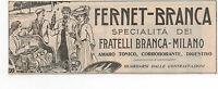 Pubblicità 1925 Fernet-branca Liquor Italy Milano Advertising Werbung Reklame -  - ebay.it