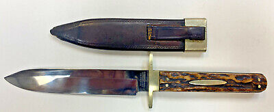 Bowie Spearpoint Stag Handle Knife Sheath Joseph Rodgers & Sons for Manton & Co