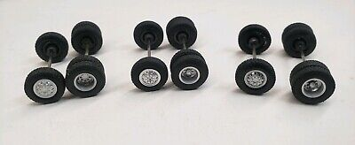 custom builds wheels tires1/64 4x4 Truck dually flatbed axels greenlight drivers