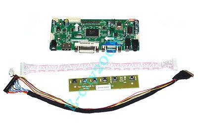 M.NT68676 VGA+DVI+HDMI+AUDIO LCD Controller Board Kit fr LP156WF4-SLB1 1920x1080 Dvi-hdmi-audio -