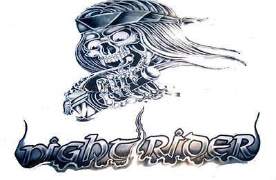 huge NIGHT RIDER SKELETON MOTORCYCLE BIKER  3 X 5 FLAG novelty  new 3x5 #FL363
