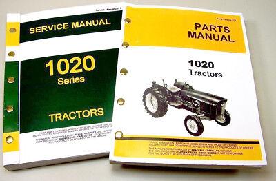 Service Manual Set For John Deere 1020 Tractor Parts Catalog Shop Repair Books