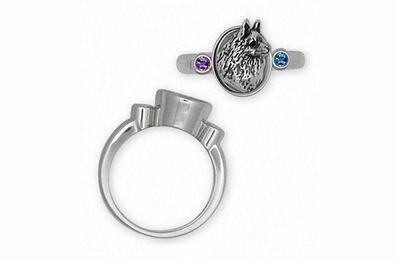 Schipperke Jewelry Sterling Silver Schipperke Ring Handmade Dog Jewelry SCH2-SR