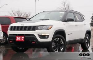 2017 Jeep Compass Trailhawk **LEATHER**SUNROOF**LOWKMS**8.4INSCR