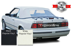 Cavalier & Sunbird Convertible Soft Top With Plastic Window & Video Vinyl 88-92