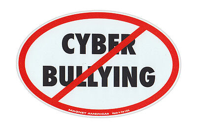 Magnetic Bumper Sticker - Stop Cyber Bullying (Anti Bully Campaign) - Awareness (Anti Cyber Bullying)